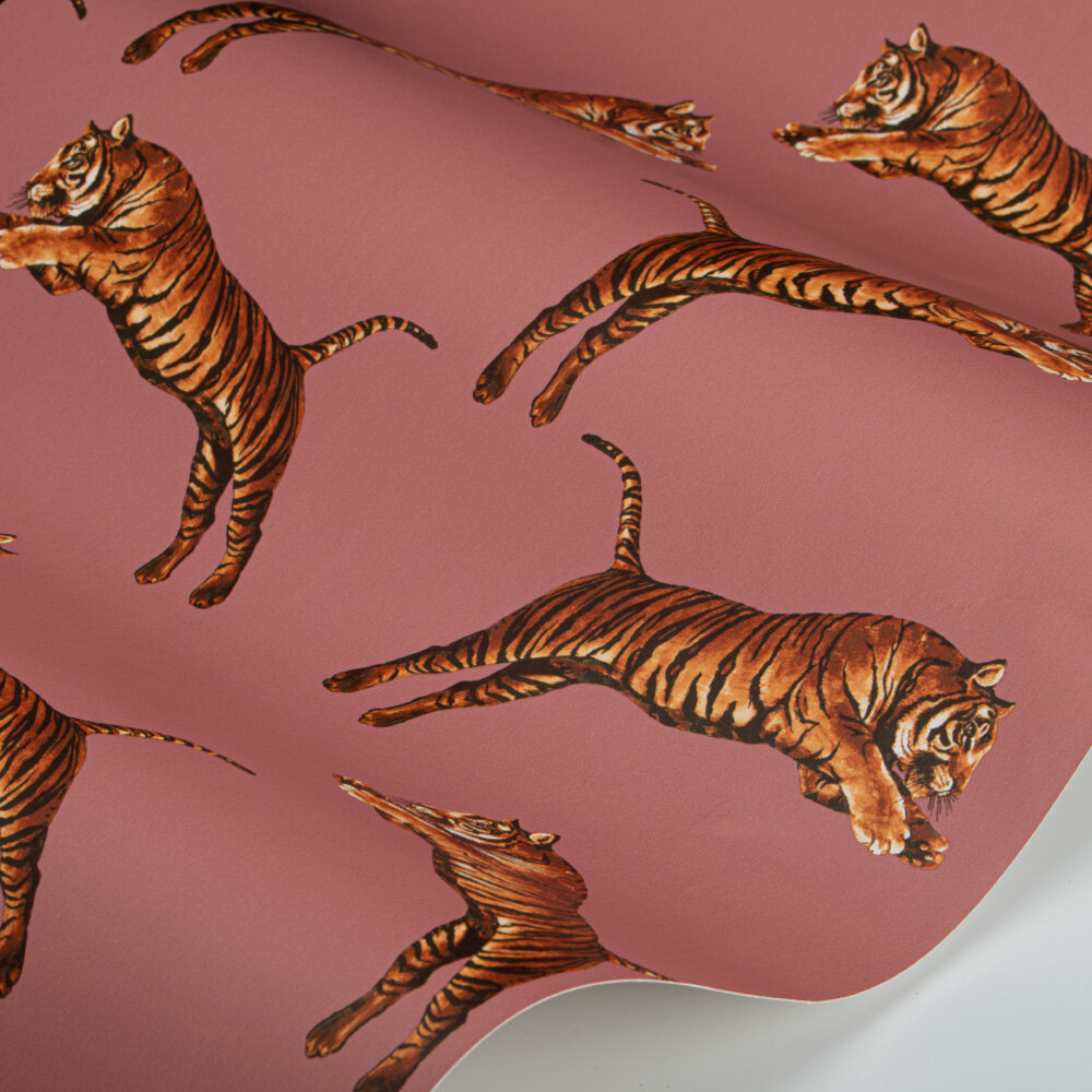 Pouncing Tigers Wallpaper - Blossom - by Paloma Home