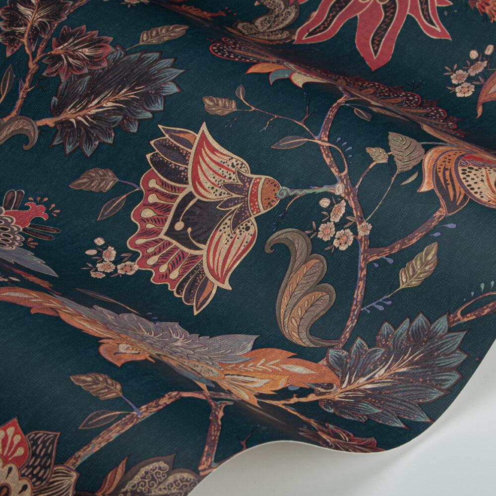 Vintage Botanicals Wallpaper - Teal - by Paloma Home